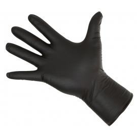 50 Nitrill-Handschuhe Long Black ~ 5,5mil 30cm lang
