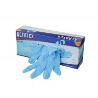 100 Nitril-Einmalhandschuhe Alfatex ~6,5mil  Gr.  S - XL