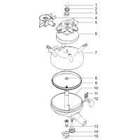Sammelstück Unterteil p.f. Fullwood Clearflow II m. Absperrung und Kleinteilen